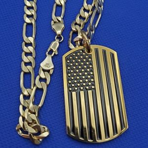 American flag black &gold color